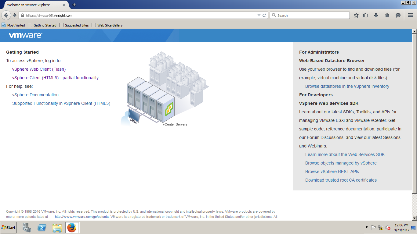 Look and Feel - vSphere HTML5 Web Client - VMWare Insight