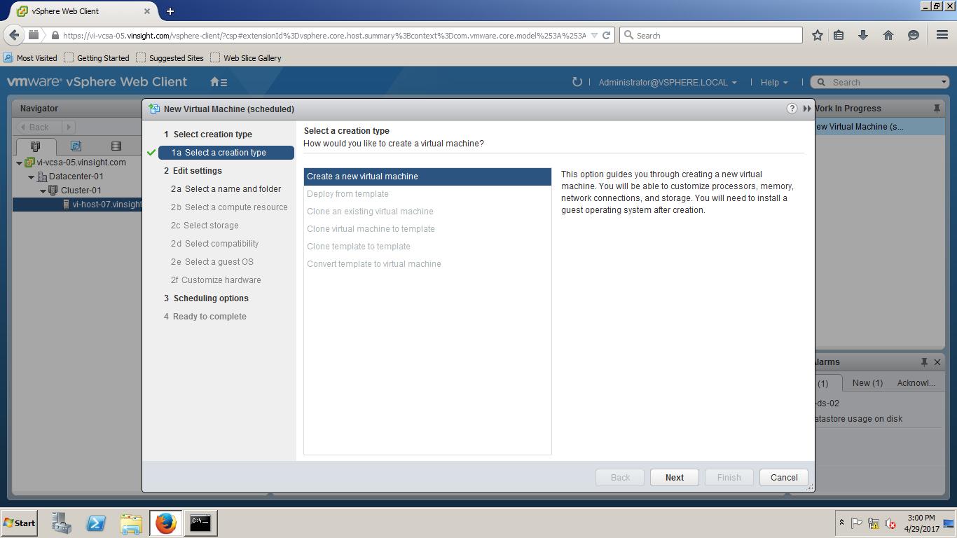 esxi 6.5 web client clone vm