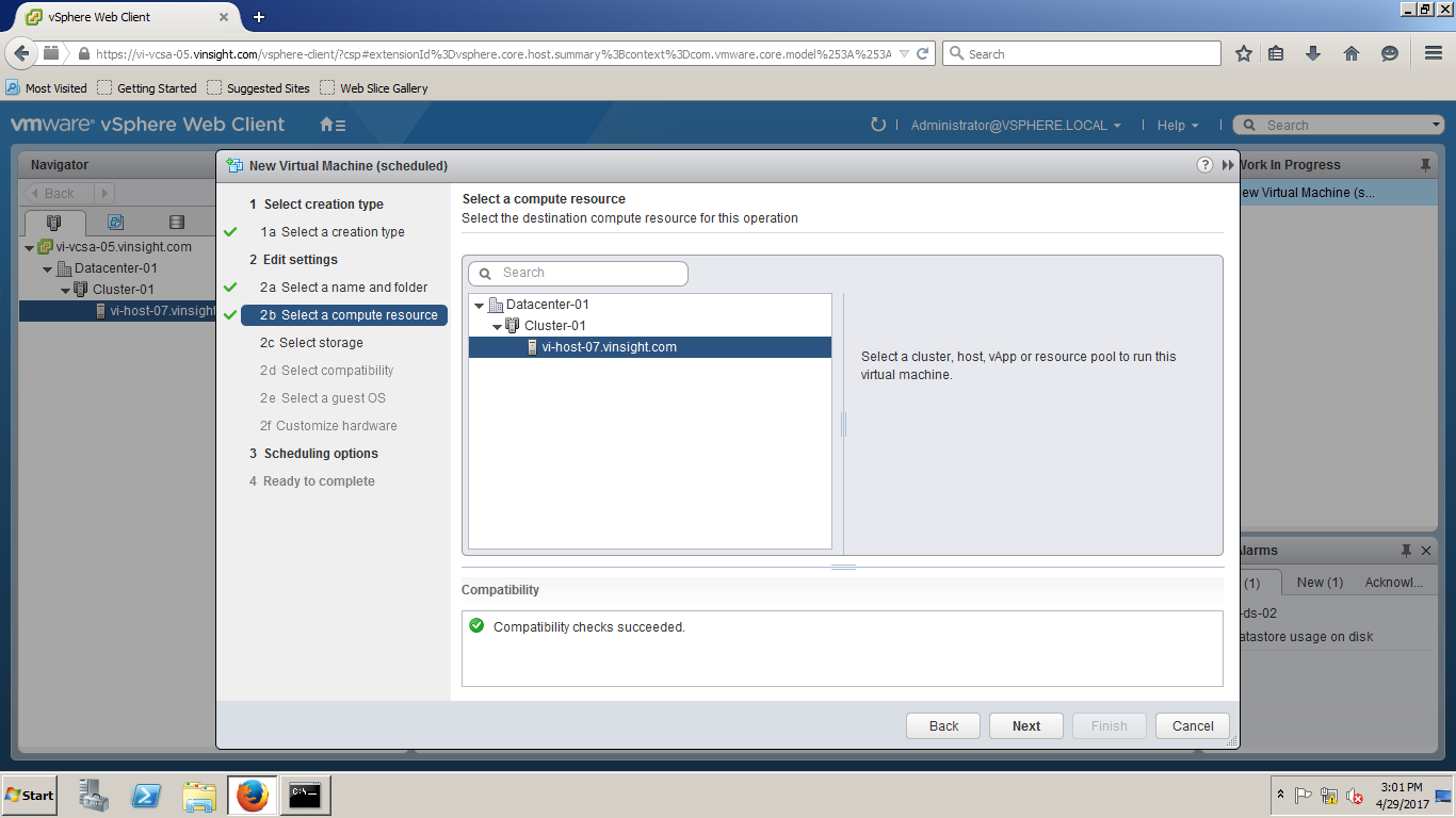 vSphere 6 5 - How to Create New Virtual Machine - VMWare Insight