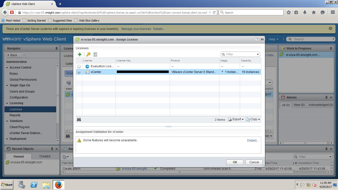 how to enter license key vmware esxi 6.5