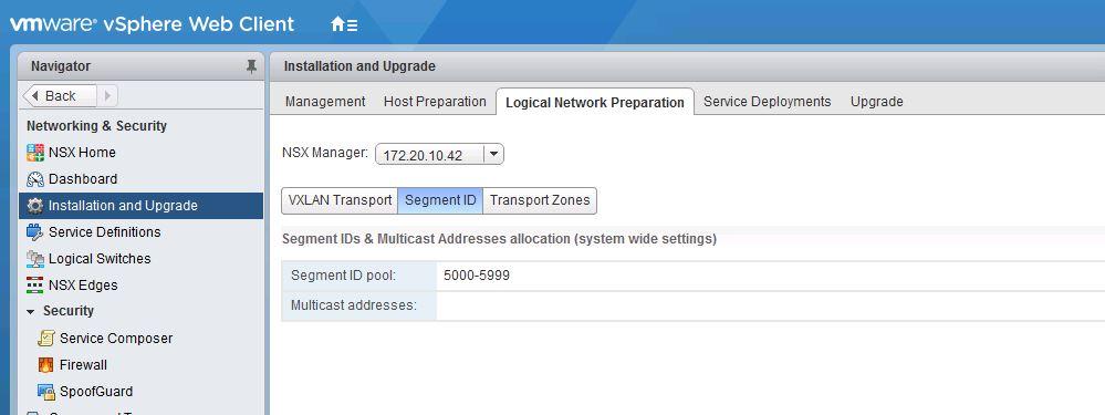 VMware NSX Notes - EAM, VTEP, VXLAN, Transport Zone, Logical Switch